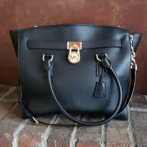 Michael Kors Hamilton lg East West black satchel